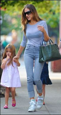 SARAH JESSICA PARKER in out and about with her children and Nanny in NYC, carrying an unreleased Coach Borough Bag. Coach are looking to up market the brand and appeal to a more wealthy market. The Borough collection is brand new for Autumn 2013 for Coach.  *courtesy of Delortae Agency luxury authentic handbag SPA, visit us on Facebook; www.facebook.com/DelortaeAgency