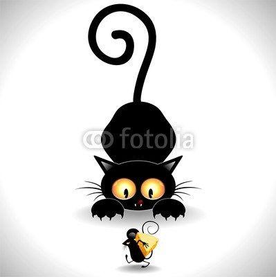 Divertido de la historieta Gatos Negro! | BluedarkArt arte del camaleón