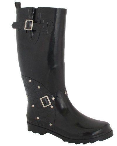 Sales Prices Women BootsiTootsi Over The Knee Rain Boot Black - K2F2805922