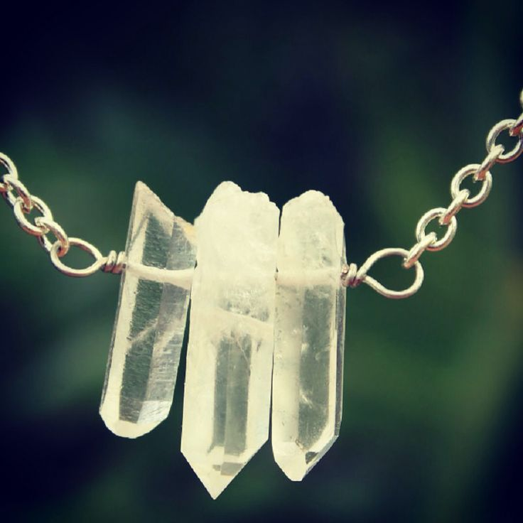 3 point natural quartz crystal necklace. $25 free postage on Australia. Available in our online store.