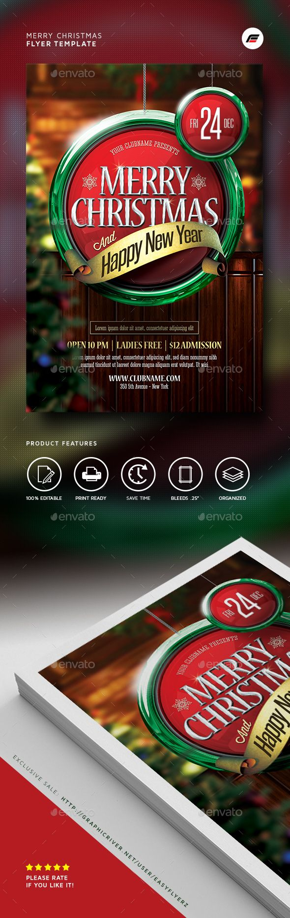 Merry Christmas Flyer Template PSD #design #xmas Download: http://graphicriver.net/item/merry-christmas-flyer-template-/13889988?ref=ksioks