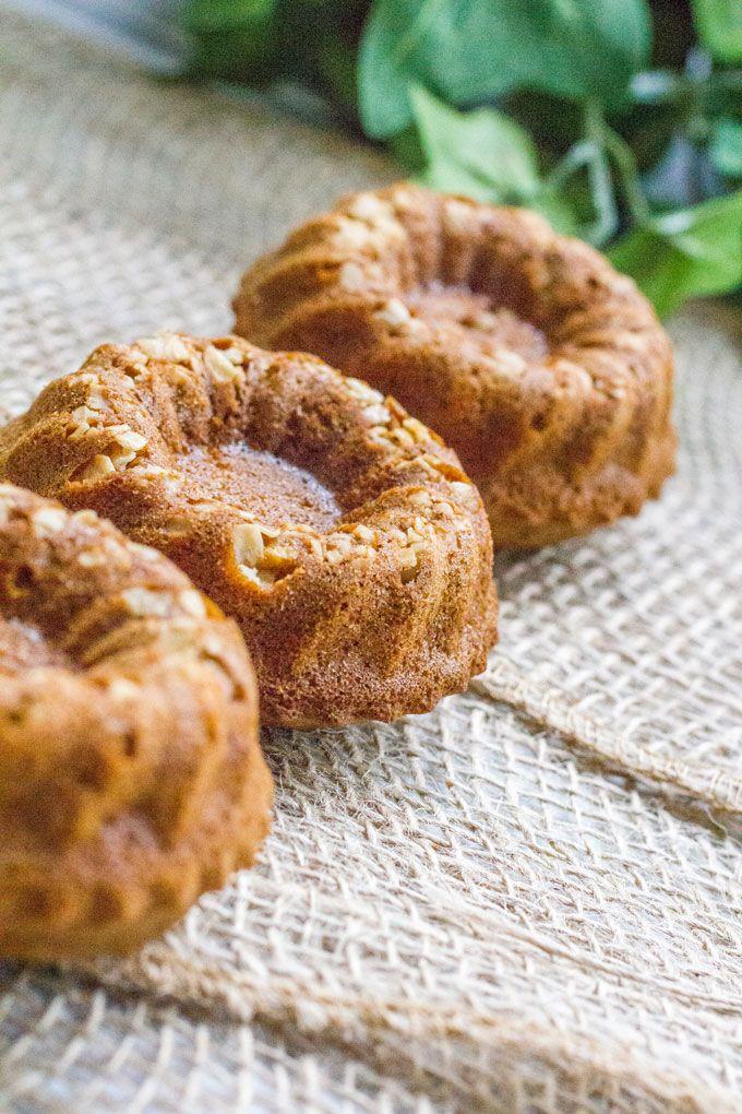 Red Velvet Gingerbread Mini Bundt Cakes
