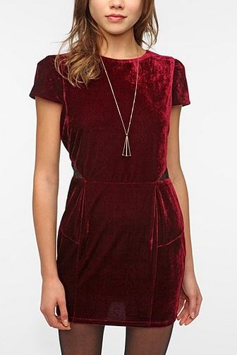 Sparkle & Fade Velvet Puff Sleeve Dress. cute for christmas parties!