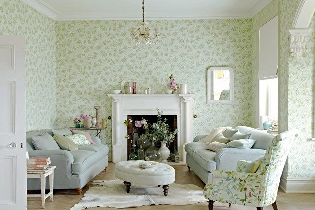 Feminine Florals - Living Room Furniture & Designs - Decorating Ideas (EasyLiving.co.uk), Sanderson Wallpaper