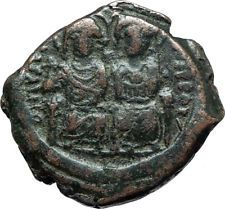 JUSTIN II & SOPHIA 565AD Constantinople Follis Ancient Byzantine Coin i66079