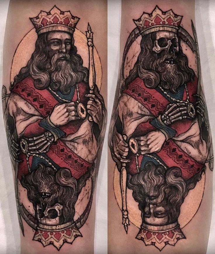 3085 best badass tattoos images on pinterest badass for Skeleton king tattoo