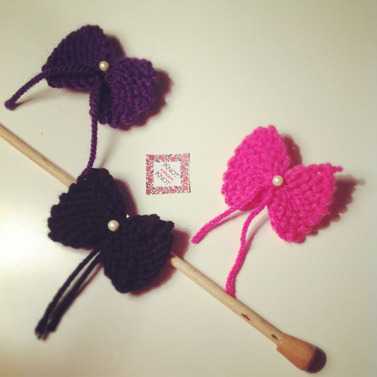 Knitted Pins 10€ KnotKnot®™ Pins Collection 2013 www.knotknot.carbonmade.com #accessories #art jewelry #fashion #hot #fashionable #style #musthave #girly #handmade #jewelry #knit #knitting #pink #black #purple