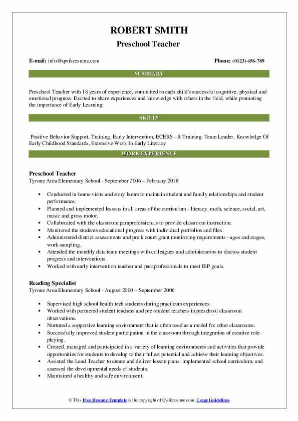 Inexperienced Teacher Resume In 2021 Resume Examples Teacher Resume Examples Resume Skills