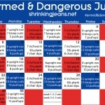 Monthly workout calendars