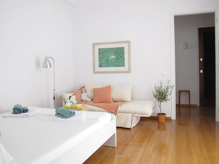 Apartment in Athens, Greece. Located in the heart of Classic Athens, a 3 minute walk from Syntagma Sq. (direct line from the Airport) and another 10 minutes to Plaka and the Acropolis. Centered in the most developed block in the area that combines the air of an old neighborho...