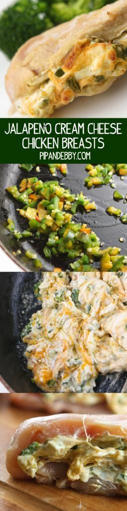 Jalapeño Cream Cheese Chicken Breasts - Chicken stuffed with gooey spicy yumminess!