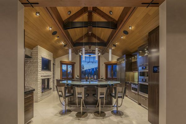 Bow Valley Timberframe Home Canmore Alberta Kitchen