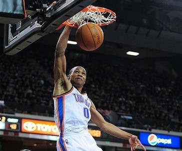 Video: Russell Westbrook dunks on first play of game vs. Rockets