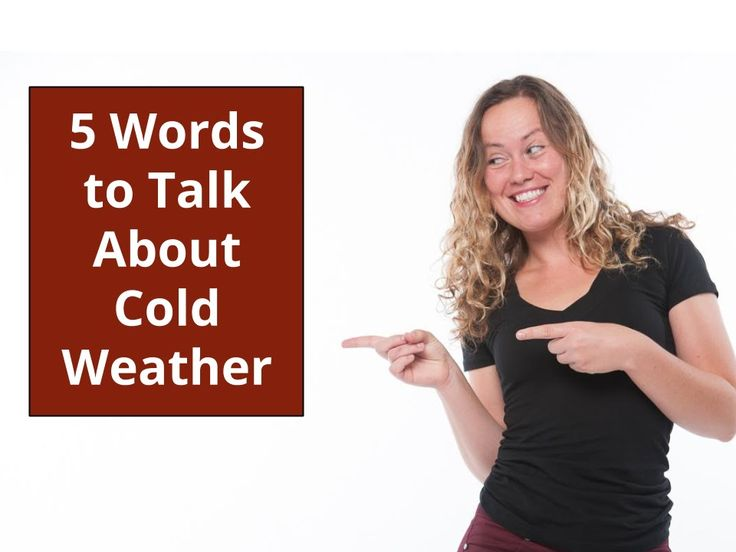 5 Words to Talk About Cold Weather - Learn with Go Natural English