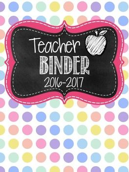 This 2016-2017  teacher binder set includes three pre-made teacher binder covers with three binder spines.  The teacher binder also comes in an editable version.   The fonts used in this product are by Kimberly Geswein. Be sure to check out my Literacy