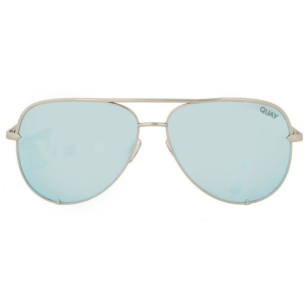 High Key Sunglasses by Quay X Desi ($65) ❤ liked on Polyvore featuring accessories, eyewear, sunglasses, silver and topshop sunglasses