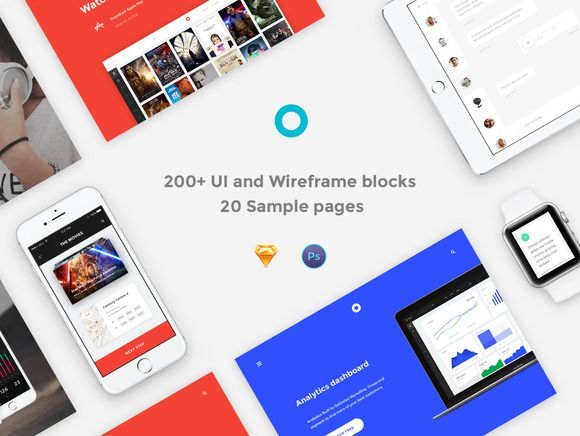200+ UI and Wireframe Blocks by Spline on @creativemarket