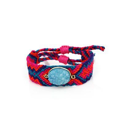 Wayuu Armband met Edelsteen 104 - €39,95