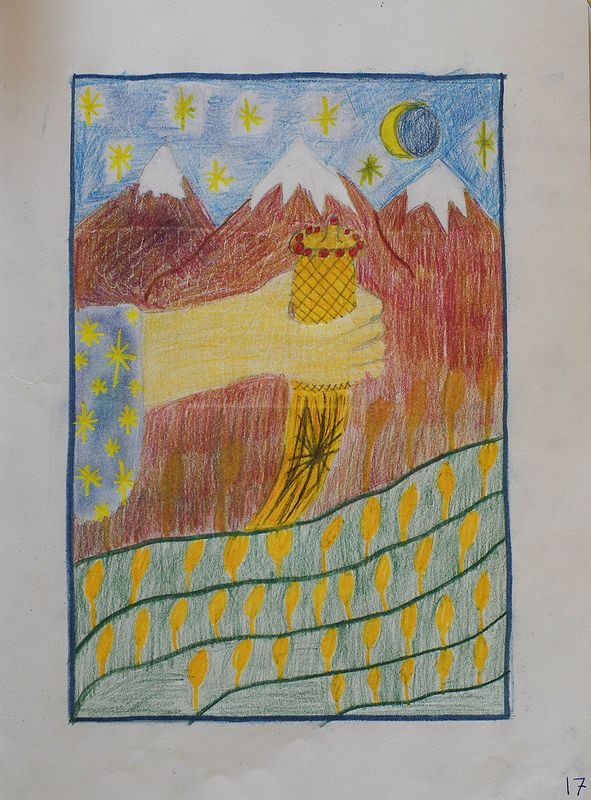 5th Grade: Ancient History and Mythology; Egypt - Main Lesson Book work
