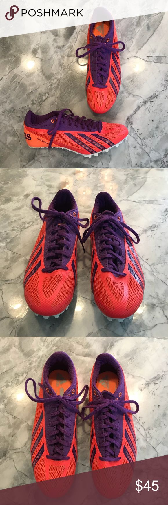 ADIDAS Women's SprintStar IV Shoes Size 7 - NEW ADIDAS Women's SprintStar IV Shoes. Size 7. Track, running, and sprint shoes. New, never worn. Neon orange/pink and purple. adidas Shoes Athletic Shoes