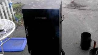 char-broil offset smoker - YouTube
