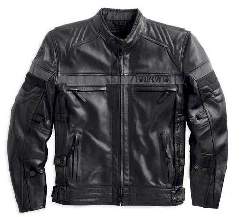 Harley-Davidson® Men's Triple Vent System, Evolution Leather Jacket 98068-14VM - Wisconsin Harley-Davidson