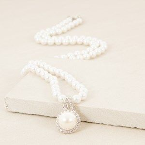 8mm Faux Pearl 80cm Pendant Necklace