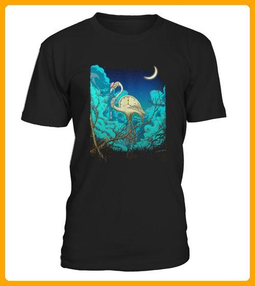 Best Shirt Surreal Flamingo Summer Night Song front - Flamingo shirts (*Partner-Link)