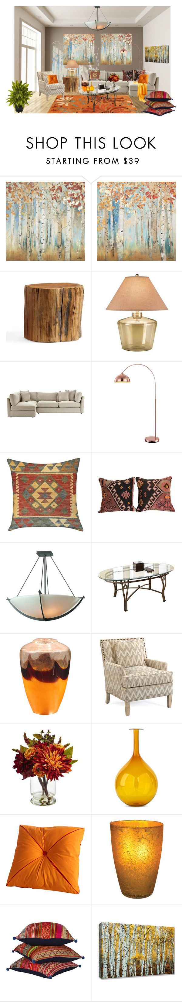 """Set C,Room #1"" by mountainalive ❤ liked on Polyvore featuring interior, interiors, interior design, home, home decor, interior decorating, Yosemite Home Décor, Pottery Barn, JAlexander and Home Decorators Collection"