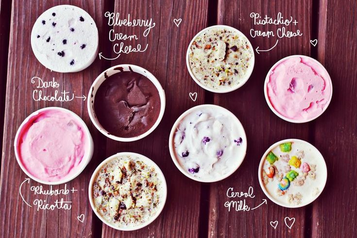 Ice Cream Flavors- can't wait to try the dark chocolate one