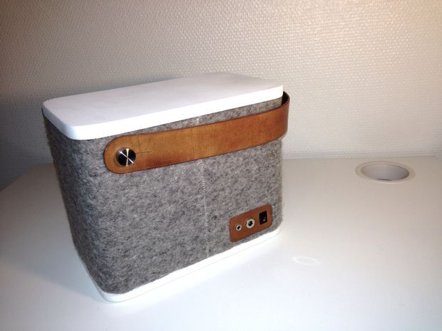 Small Portable Speaker Covered With Wool