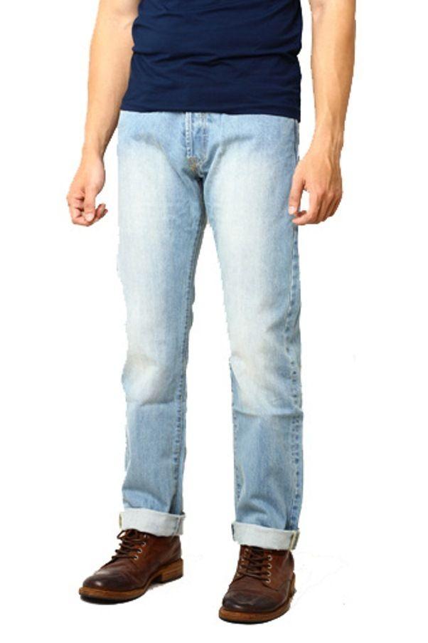 Edberth Shop Celana Panjang Jeans Pria - Cornflower Blue - Int:29