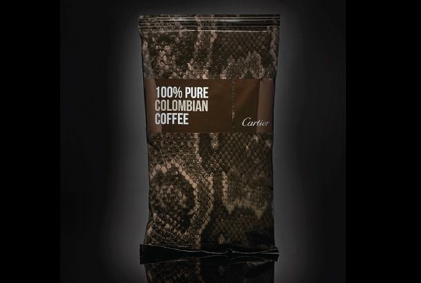 100% PURE COLOMBIAN COFFEE                                                          by  Cartier