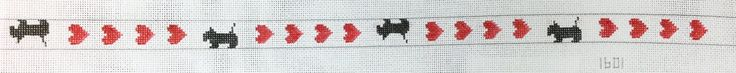 Dogs and Hearts Belt Canvas