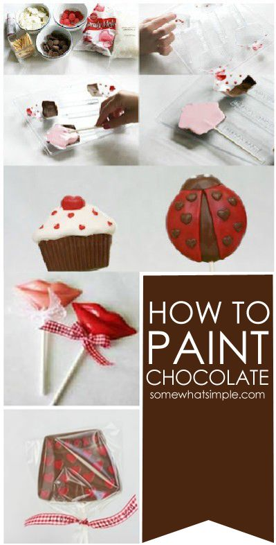 How to paint chocolate - who knew?!