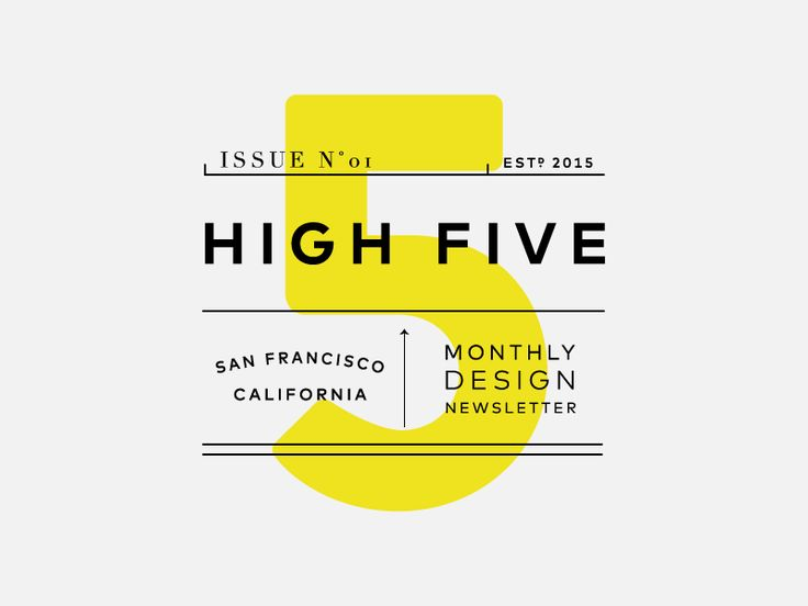 High Five is an internal newsletter that the Switch design team created–this is the masthead for our inaugural issue.   We hope that by documenting parts of the design process we'll shed some light...