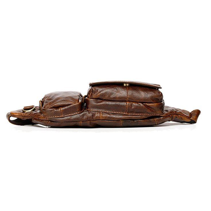 Bolso riñonera vintage de pecho para hombres y mujeres bolsas de pequeñas moda al aire libre