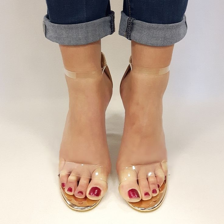 Rose gouden schoenen sandaaltjes open teen brede hakken