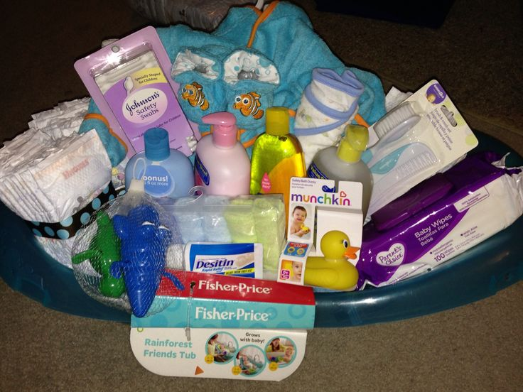 Baby Bath Gift Basket Baby Shower Ideas Pinterest