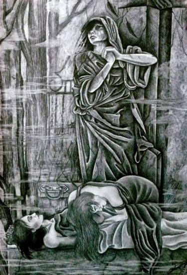 "Saatchi Art Artist Celeste Gómez; Drawing, ""TESTIMONIO DE ALGUIEN QUE EXISTIÓ.  SOLD"" #art"