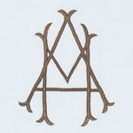 Twig like layerd monogram