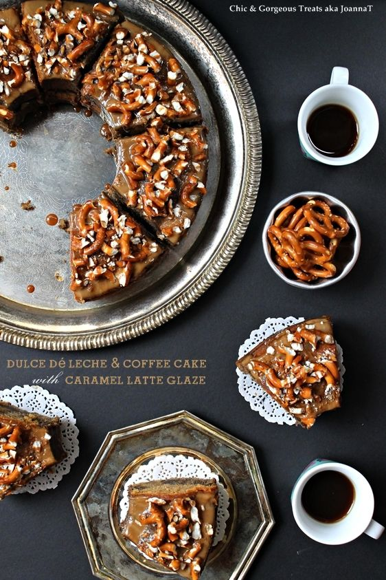 Dulce De Leche + Coffee Cake with Caramel Latte Glaze from Chic and Gorgeous Treats: Latte Glaze, Chic, Cakes, Caramel Milk, Coffee Cake, Leche Coffee, Dessert, Caramel