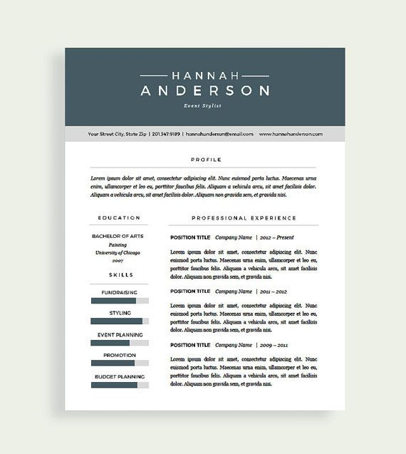 44 best Resume Templates images on Pinterest Cover letters - resume presentation