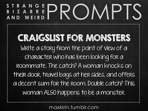 ✐ DAILY WEIRD PROMPT✐  CRAIGSLIST FOR MONSTERS From maxkirin's tumblr