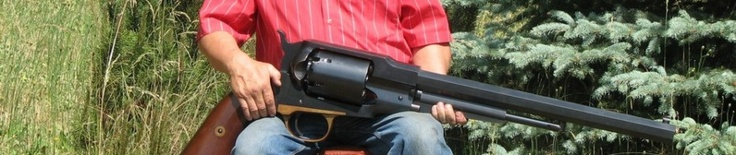 A native Polish village of Petrovo, A person named Ryszard Tobys produced the world's largest gun, using as a template design Remington 1859. Weapons made of carbon steel and bronze trigger guard – from brass. Revolver giant weighs 45 kg, reaching a length of 126 cm As recognized by the Polish master, it is not practical to use the product, because to make the shot a distance of 100 meters must be installed on the gun with a solid footing.