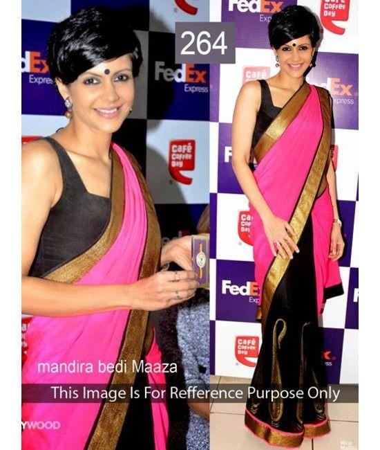 Bollywood Designer Mandira Maaja Multi Color Bridal Saree