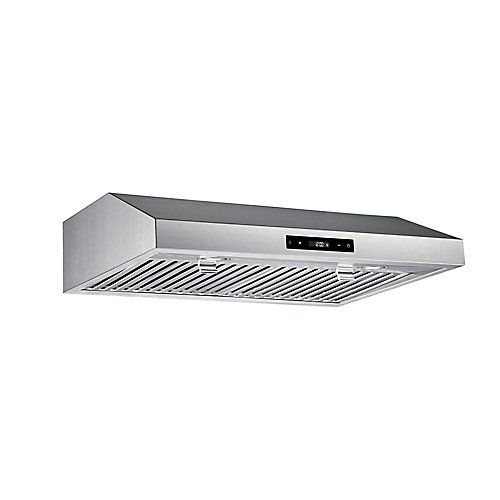 Inspirational This inch under cabinet range hood offers the simple stainless steel styling you