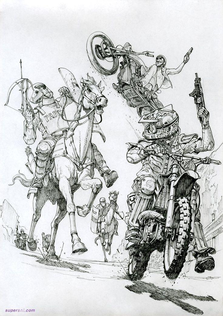 illustrations for novel by Kim Jung Gi