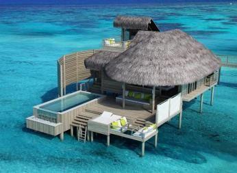 Laamu Water Villa med pool, Six Senses Laamu, Maldiverne. Vind rejse med Knæk Cancer