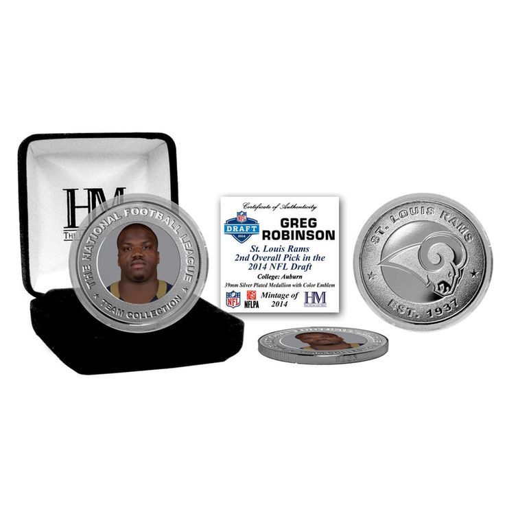 Classic St. Louis Rams Greg Robinson 2014 NFL Draft Silver Mint Coin